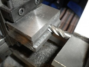 Machining the axle box in the taig lathe