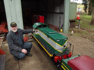 A happy chappy.... and his loco...